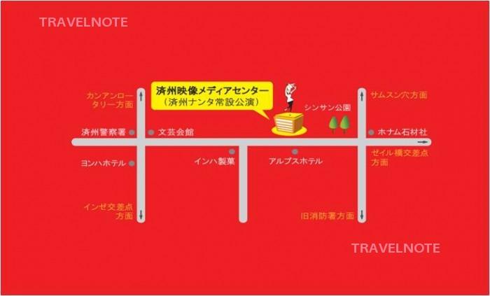 済州島劇場の地図