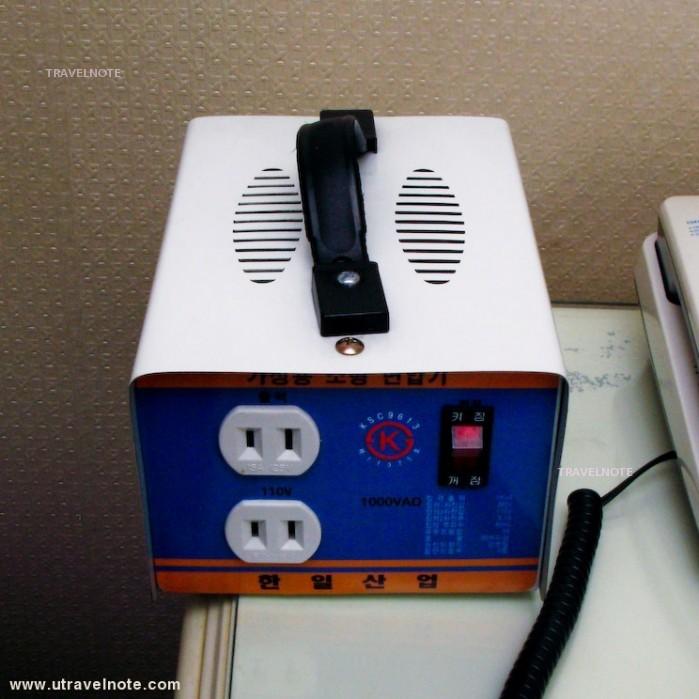 ホテルでレンタルできる変圧器(リオ観光ホテル)