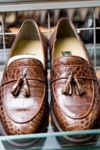 クロコダイル革靴