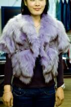 毛皮のショート丈ジャケット
