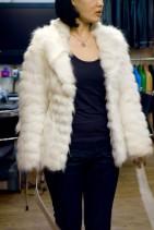白毛皮コート
