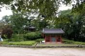 双樹亭史跡碑と双樹亭