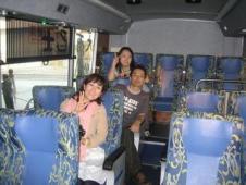 台湾2009 vol.1 空港バスは快適です!^^!