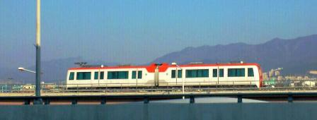 釜山ー金海間の軽電車