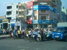 ホーチミンのバイク集団
