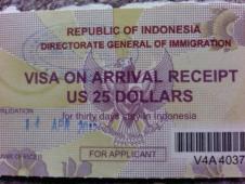 インドネシアのアライバルビザ