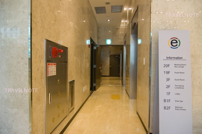 ラマダアンコールソウル東大門 エレベータ前 フロア案内図